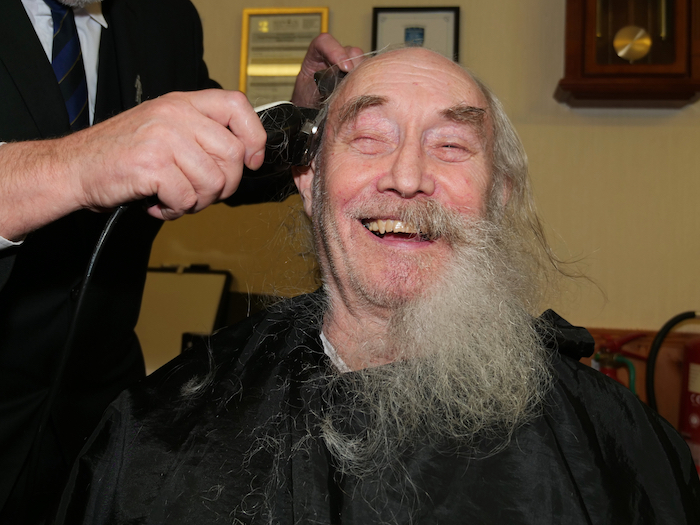 Selby Brown charity shave